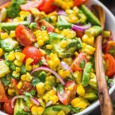 Corn Salad Recipe Easy, Corn Salad Recipes, Summer Salad Recipes, Corn Salads, Avocado Recipes, Tuna Recipes, Fresh Corn Recipes, Mexican Salad Recipes, Fast Recipes