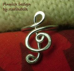 The Original Elegant TREBLE CLEF RING for You Who Like Music -Custom Made -For Musicians and Music Lovers - Delivered in Cute Ring Box