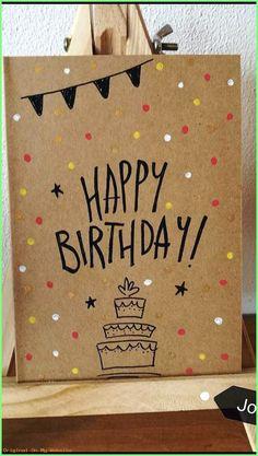 diy birthday cards for friends creative - Creative Birthday Cards, Homemade Birthday Cards, Cute Birthday Cards, Bday Cards, Birthday Cards For Friends, Creative Cards, Birthday Greetings, Homemade Cards, Creative Pics