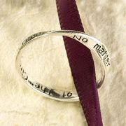 """Mobius ring """"No matter the trial we know we can cope, because we are part of the Circle of Hope."""""""