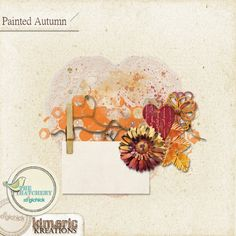 kimeric kreations: Painted Autumn journal cluster