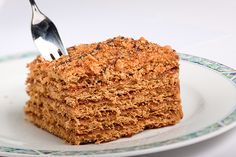 Marlenka is an ancient Armenian honey layered cake with nuts, popular in the Czech Republic. Similar to Hungarian honey cakes with a little bit more touch of nuts. Cake Recipes, Vegan Recipes, Czech Food, Czech Recipes, Honey Cake, Different Cakes, Central Asia, Armenia, Eastern Europe