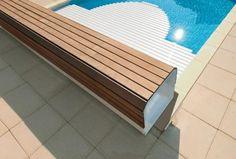 Volet électrique de piscine, volet hors-sol de piscine, volet roulant électrique de piscine | Coverline