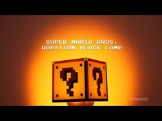 Super Mario Bros Question Block Lamp | ThinkGeek