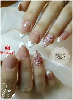 Here is a tutorial for an interesting Christmas nail art Silver glitter on a white background – a very elegant idea to welcome Christmas with style Decoration in a light garland for your Christmas nails Materials and tools needed: base… Continue Reading → Diy Nails, Cute Nails, Pretty Nails, Nail Nail, Bride Nails, Wedding Nails, French Tip Nails, Toe Nail Designs, Nagel Gel