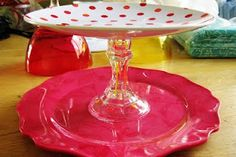Two Plates and a Candle Stick Holder