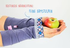 Kostenlose Anleitung: Armstulpen nähen als individuelles Accessoire - Crochet Arm Warmers, Crochet Mittens, Diy Accessories, Winter Accessories, Sewing Dress, Sew Mama Sew, Diy Mode, Winter Essentials, Sew Ins