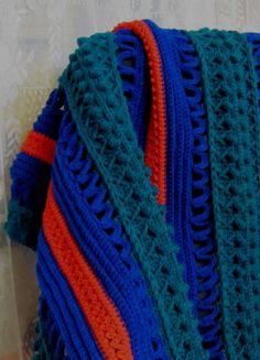 Stark Afghan Crochet | skerin Handarbeiten ☼ Crafts ☼ Labores ✿❀.•°LaVidaColorá°•.❀✿ http://la-vida-colora.joomla.com