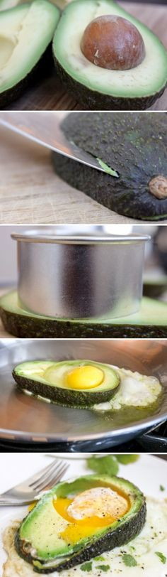 avocado fried egg cups for breakfast