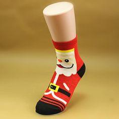 Neutral 3D Print Cute Santa Socks Basse Cut Harajuku Christmas Socks