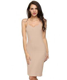 ec5847f05b6c Women Long Spaghetti Strap Full Cami Slip Camisole Under Dress Liner  Nightgown - Pink - CN180OCNL3K