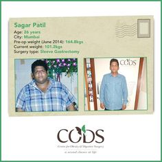 CODS shining star: 61 kgs weight loss looks like this. A year post surgery, 26-year-old Sagar Patil is outgoing, can shop anywhere and has shut up those who made fun of his weight. Is excess weight bothering you? Call us on 1800 229 928 or 9167939933. #codsindia #wls #drmuffi