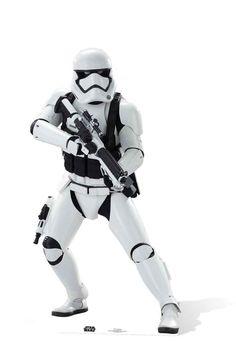 First Order Stormtrooper Star Wars The Force Awakens Lifesize Cardboard Cutout. Buy Star Wars standups & standees at Starstills.com