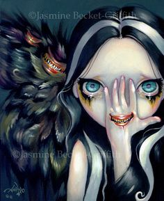Speak No Evil surreal gothic angel mouth fairy art print by Jasmine Becket-Griffith 8x10 by strangeling on Etsy https://www.etsy.com/ca/listing/111653808/speak-no-evil-surreal-gothic-angel-mouth