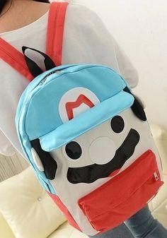 Mario Canvas Backpack