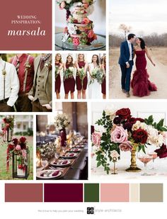 Wedding Colors Burgundy Pantone 2015 21 Ideas For 2019 Maroon Wedding Colors, Blush Wedding Flowers, Wedding Color Schemes, Wedding Bouquets, Marsala And Gold Wedding, Burgundy Wedding, Wedding Designs, Wedding Styles, Summer Wedding