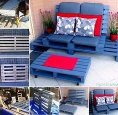 Sala para terraza, palets
