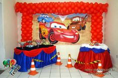 Hot Wheels Party, Festa Hot Wheels, Lightning Mcqueen Party, Auto Party, Race Car Party, Car Themed Parties, Cars Birthday Parties, Birthday Ideas, Twin Birthday
