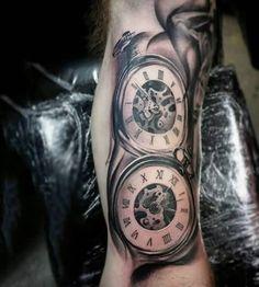Chain Classy Pocket Watch Tattoo Design For Men. TattoosHunter