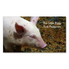 Pig Farmer - Cute Piglet Photograph Business Card Template. This great business card design is available for customization. All text style, colors, sizes can be modified to fit your needs. Just click the image to learn more!