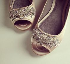 Downton Abbey Bridal Open toe Ballet Flats Wedding Shoes - All Full Sizes - Pick your own shoe color on Etsy, $115.00