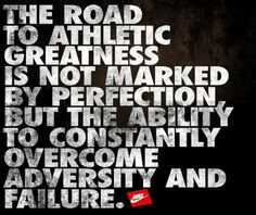 meat-vs-vegetarian:    the road to athletic greatness is not marked by perfection, but the ability to constantly overcome adversity and failure.