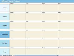 Free Printable Meal Planner  Weekly Menu Planners Menu Planners