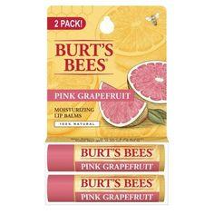 Burt's Bees Moisiturizing Lip Balm Pink Grapefruit - 2 PK, 0.15 OZ