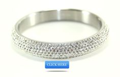 Dazzle like a celebrity with this White Balla Bangle Bracelet! Featuring Flawless White Austrian Crystals with Stainless Steel Band. This trendy bracelet has been spotted on such celebs as Jennifer Aniston and Paris Hilton! www.ballabracelet... Fits wrist up to 8 inches. #bracelets #fashion #armcandy #jewelry #girls #earrings