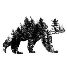 Pacific Northwest Bear Car Decal by LeafTeeDesigns on Etsy