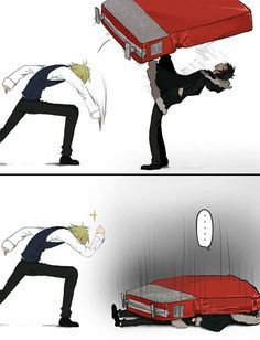 """Shizuo's just like, """"Yes! Got him!"""""""