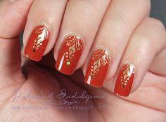 autumn nail art | Polished Indulgence: Nail Art Wednesday: Autumn Elegance with Essence ...