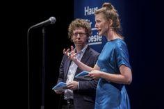 18. poesiefestival berlin: Europa_ Fata Morgana Weltklang - Nacht der Poesie Arnon Grünberg und Charlotte Van den Broeck (c) gezett #poesiefestival