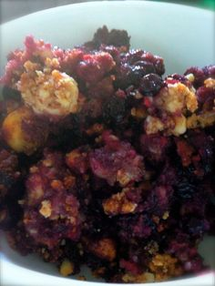 """""""This was sooooo easy to make and a huge hit after dinner! I would make more of the crunch, maybe 1.5 the recipe. DELICIOUS! paleo berry crumble"""""""
