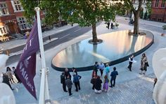 'Silence' Water feature, Mount Street, Mayfair , London, UK by Tadao Ando