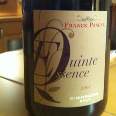 Champage Quinte Essence 2004 Productor: Franck Pascal