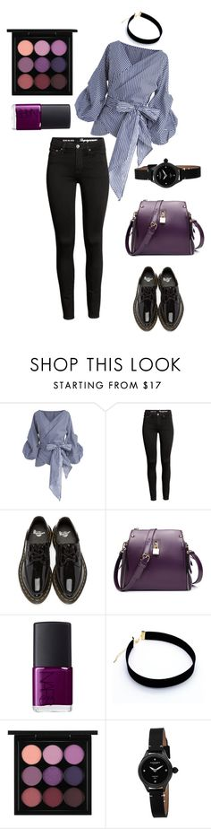 """""""In Purple"""" by keepfashion92 ❤ liked on Polyvore featuring Chicwish, Dr. Martens, NARS Cosmetics, MAC Cosmetics and Akribos XXIV"""