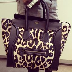 Celine Luggage Bag. Spring 2013. Not even a fan of animal print if any kind, but I love this, would rock it like no tomorrow