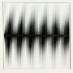Alberto Biasi, Orizzontale e oltre, 1973, cm 60 x 60