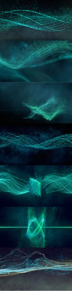 'Oscillate' - Thesis Animation of Sine Waves by Daniel Sierra