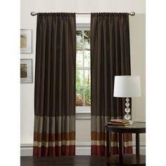 Lush Decor Red/ Gold 84-inch Iman Curtain Panel