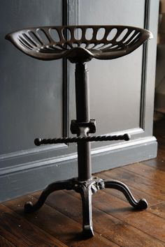 Love this tractor seat stool!!  Found on rockettstgeorge