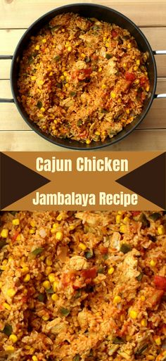 Cajun Chicken Jambalaya Rezept - New Ideas Quick Pasta Recipes, Cajun Recipes, Healthy Chicken Recipes, Cooking Recipes, Cajun Food, Donut Recipes, Slow Cooking, Rice Recipes, Healthy Food