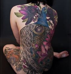 peacock back piece finished two months ago.