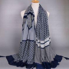 SHARE & Get it FREE   Chic Wavy Stripe and Plaid Pattern Tassel Pendant…