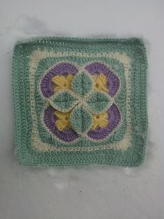 "Ravelry: Project Gallery for Starburst New Millenium 12"" Afghan Block pattern by Margaret MacInnis"