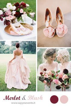 MERLOT + BLUSH WEDDING http://sayyesevents.it/2014/09/25/color-inspiration-merlot-blush/