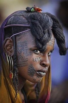 Wodaabe Woman, Chad, Africa by Timothy Allen. people photography, world people, faces Black Is Beautiful, Beautiful People, Tribal People, African Tribes, African Countries, Portraits, African Culture, African Beauty, Interesting Faces