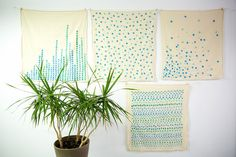 Confetti Trail Tea Towel (via: For the Makers)