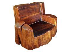 Poltrona / Banco /cadeira Rustica De Tora Em Madeira Maciça - R$ 2.550,00 no MercadoLivre